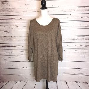 Natural reflections oversized tunic top